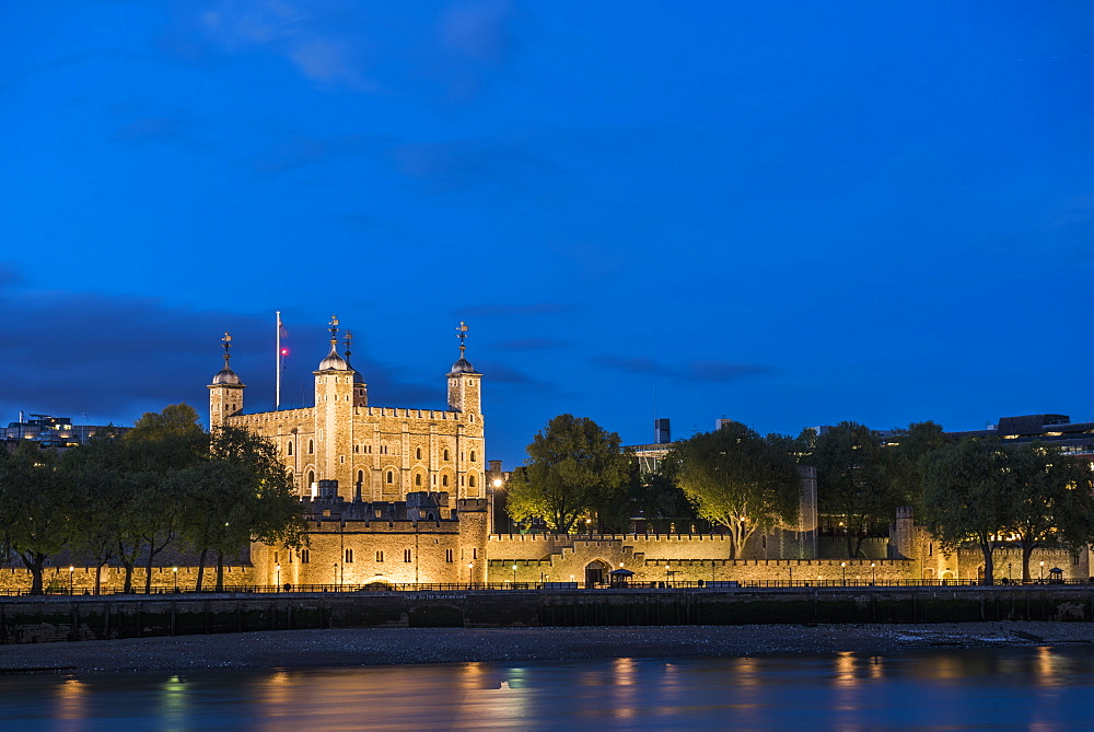 Tower of London at night, City of London, London, England