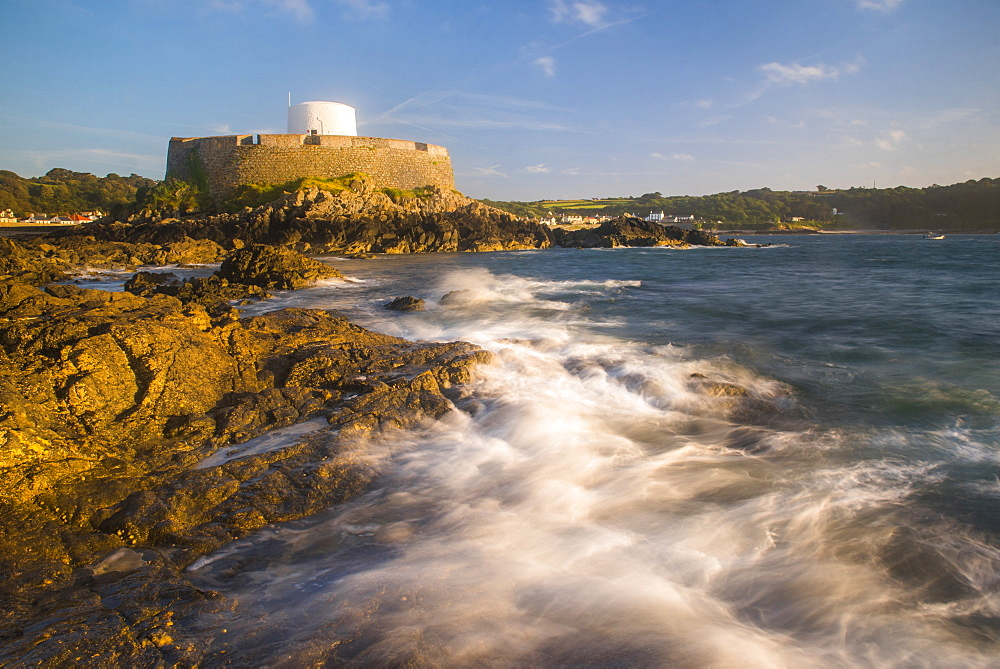 Fort Grey (Cup and Saucer) at sunset, Guernsey, Channel Islands, United Kingdom, Europe
