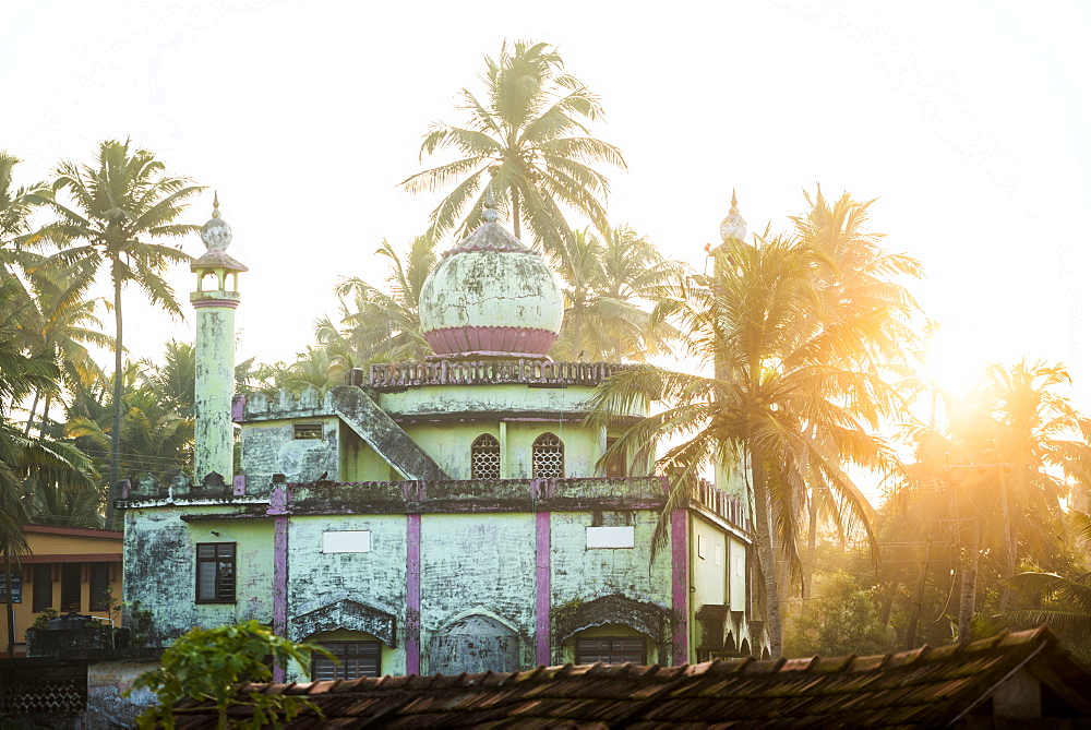 Mosque at Kappil Beach, Varkala, Kerala, India, Asia - 1272-229