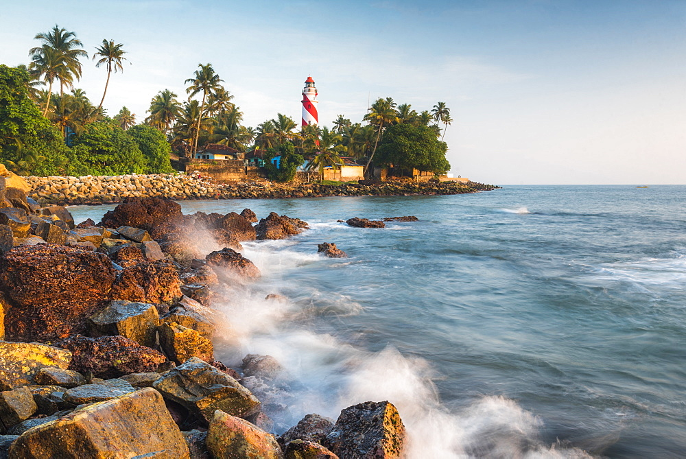 Thangassery Lighthouse, Kerala, India, Asia