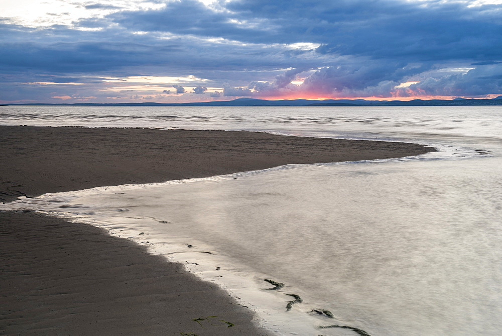 Morecambe Bay at sunset, Lancashire, England, United Kingdom, Europe - 1272-241