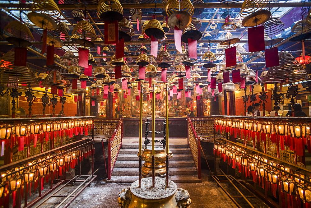 Man Mo Temple, Sheung Wan, Hong Kong Island, Hong Kong, China - 1272-257