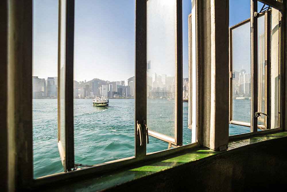 Star Ferry between Hong Kong Island and Kowloon, Hong Kong, China, Asia - 1272-271