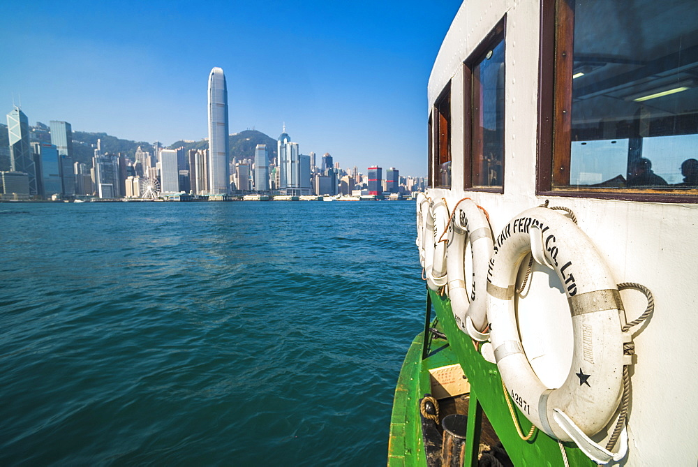 Star Ferry between Hong Kong Island and Kowloon, Hong Kong, China, Asia - 1272-272