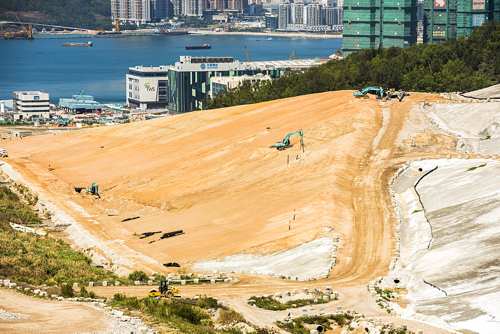 Landfill site, Kowloon, Hong Kong, China, Asia - 1272-276