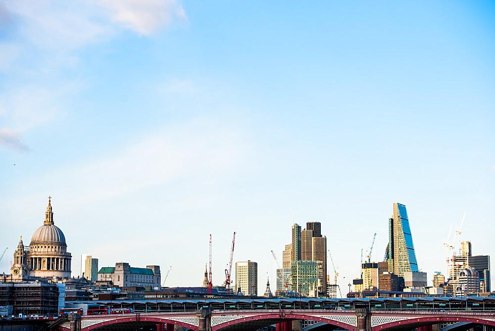 St. Pauls Cathedral and London skyline, London, England, United Kingdom, Europe - 1272-56