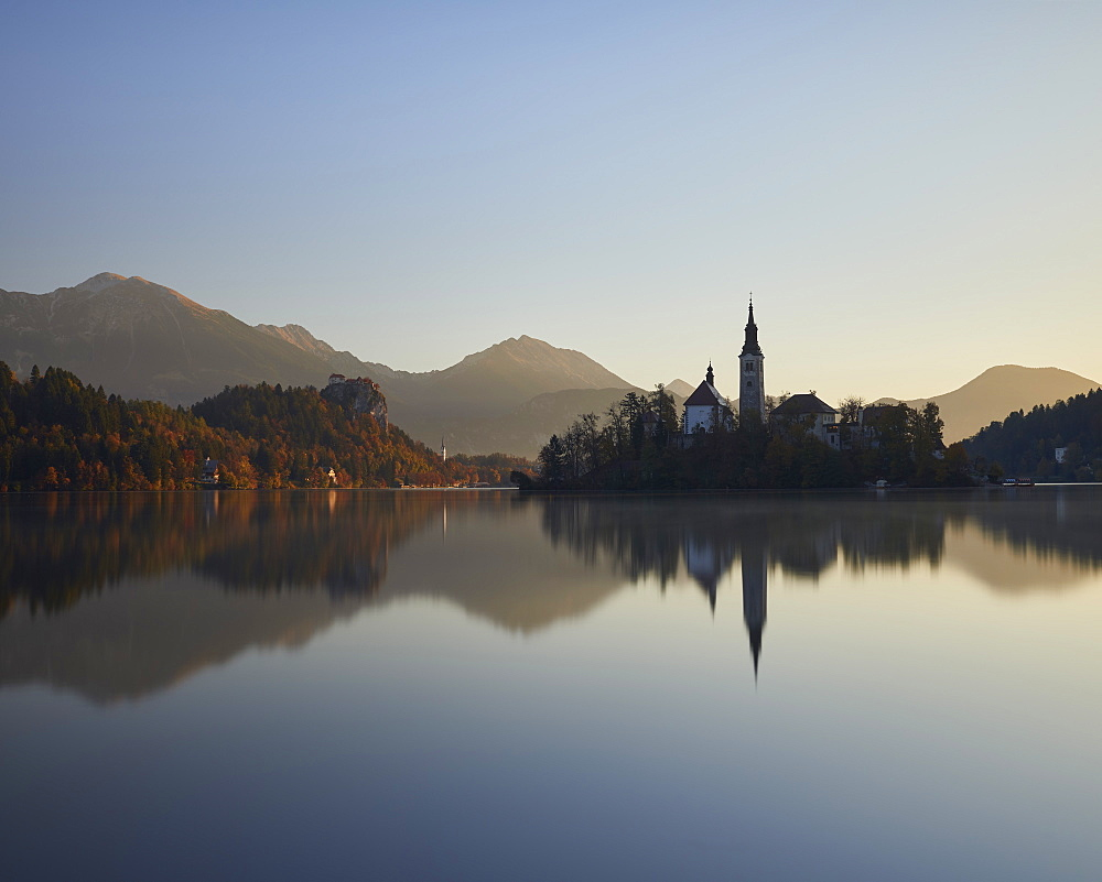 Sunrise, Lake Bled, Slovenia, Europe - 1273-23