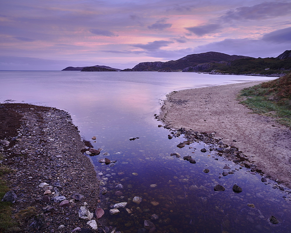 Dawn, Gruinard Bay, Wester Ross, Highlands, Scotland, United Kingdom, Europe
