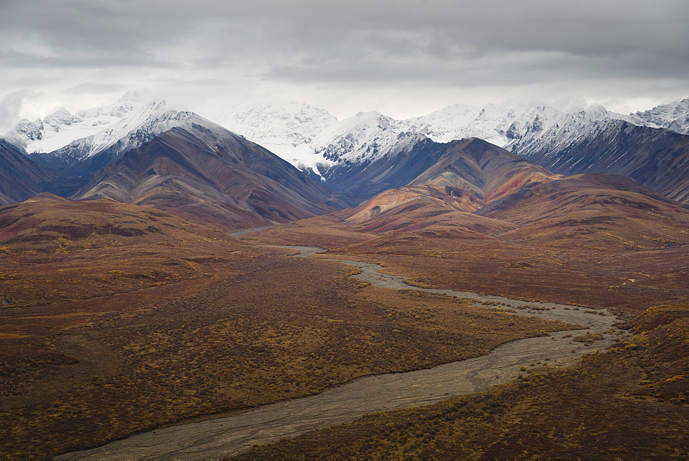 Polychrome Mountain range in Denali National Park, Alaska, United States of America, North America - 1275-14