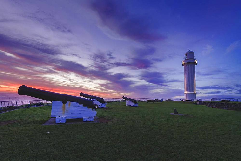 Morning landscape at the Wollongong lighthouse, New South Wales, Australia, Pacific