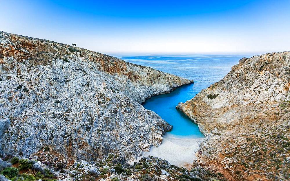 Seitan Limania Beach, Akrotiri, Crete, Greek Islands, Greece, Europe