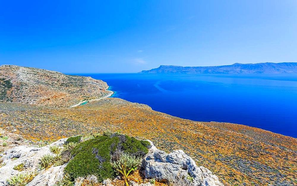 Balos Bay, Gramvousa Peninsula, Crete, Greek Islands, Greece, Europe