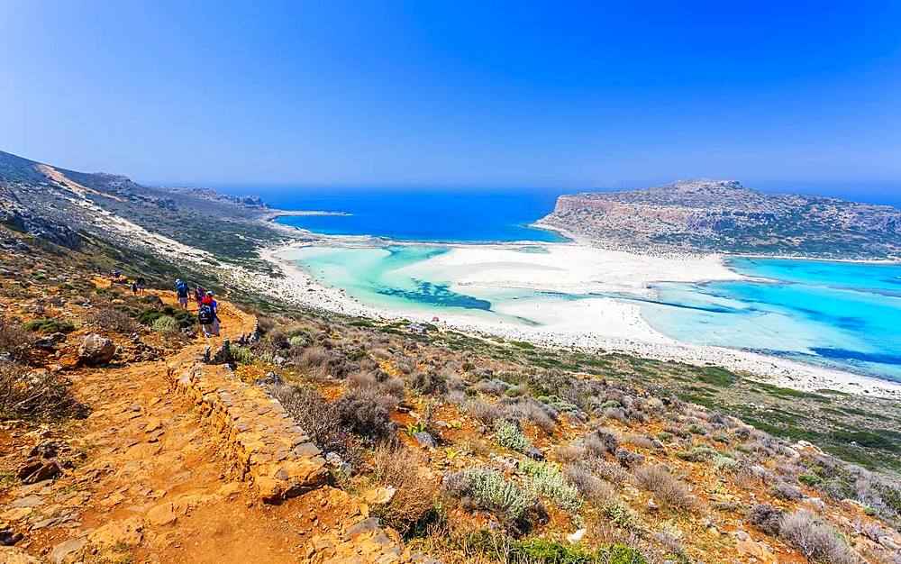 Balos Bay Beach, Gramvousa Peninsula, Crete, Greek Islands, Greece, Europe