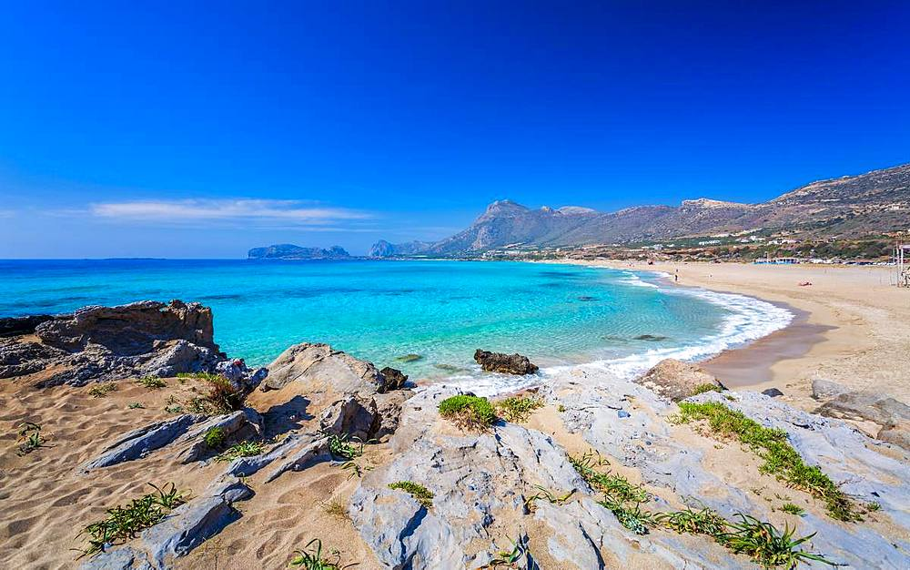 Falassarna beach in Western Crete, Greek Islands, Greece, Europe