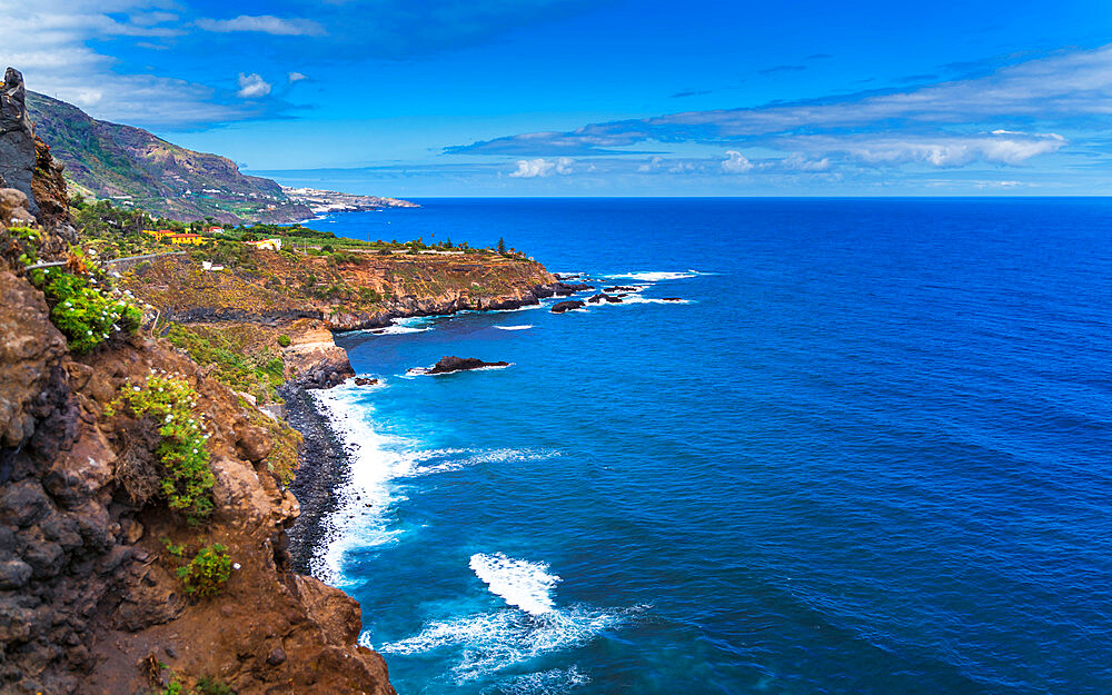 The coastline of Los Realejos in Tenerife, Canary Islands, Spain, Europe