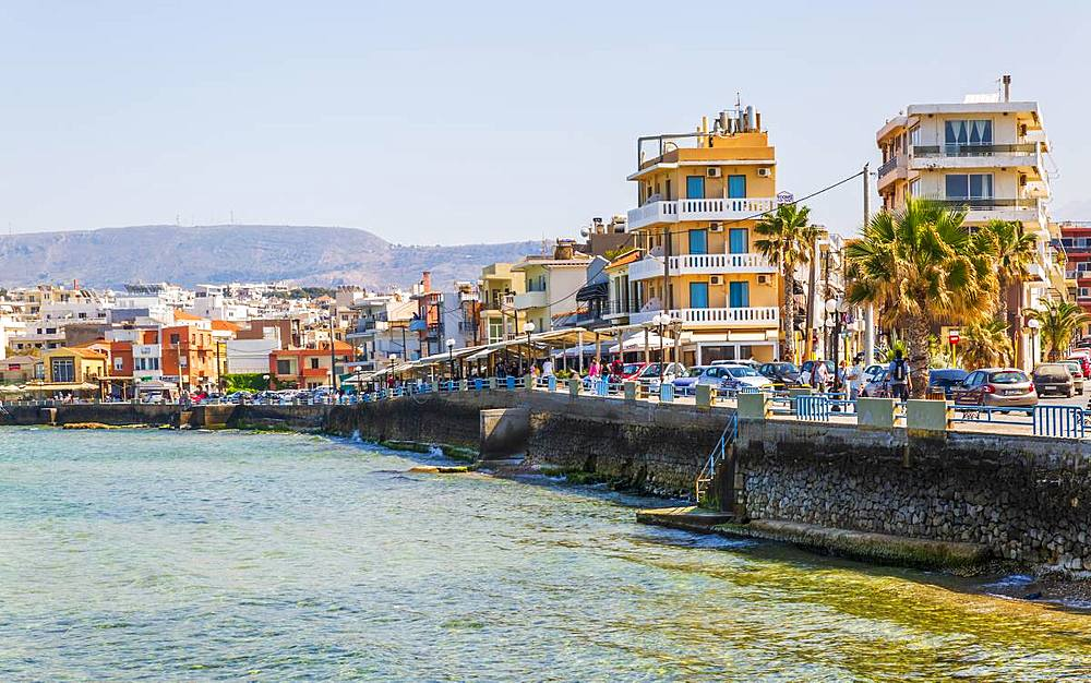 Waterfront, Chania, Crete, Greek Islands, Greece, Europe