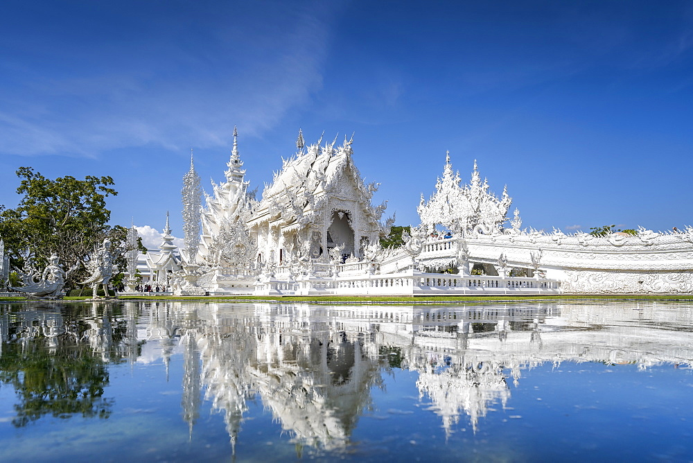 Wat Rong Khun (White Temple), Chiang Rai, Northern Thailand, Thailand, Southeast Asia, Asia - 1276-2258