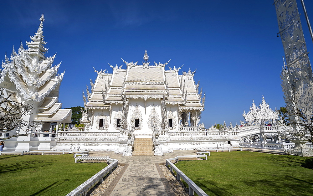 Wat Rong Khun (White Temple), Chiang Rai, Northern Thailand, Thailand, Southeast Asia, Asia - 1276-2259