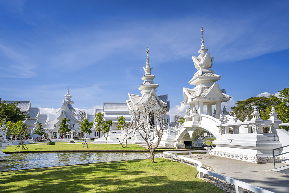 Wat Rong Khun (White Temple), Chiang Rai, Northern Thailand, Thailand, Southeast Asia, Asia - 1276-2266