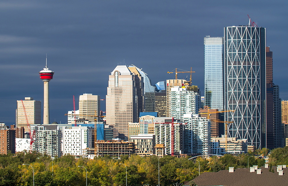 Calgary city skyline, Calgary, Alberta, Canada, North America