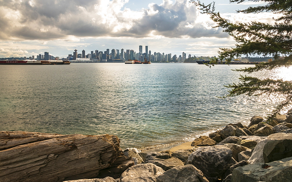View of Vancouver Downtown from North Vancouver, Vancouver, British Columbia, Canada, North America
