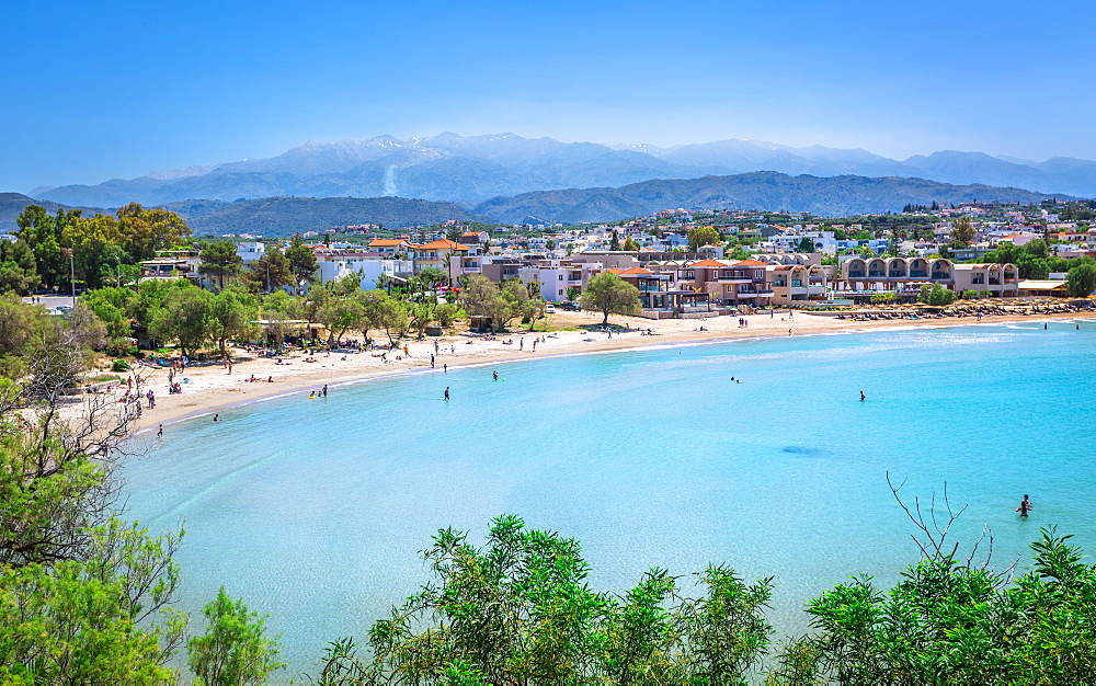 View of Agioi Apostoloi Beach, Crete, Greek Islands, Greece, Europe