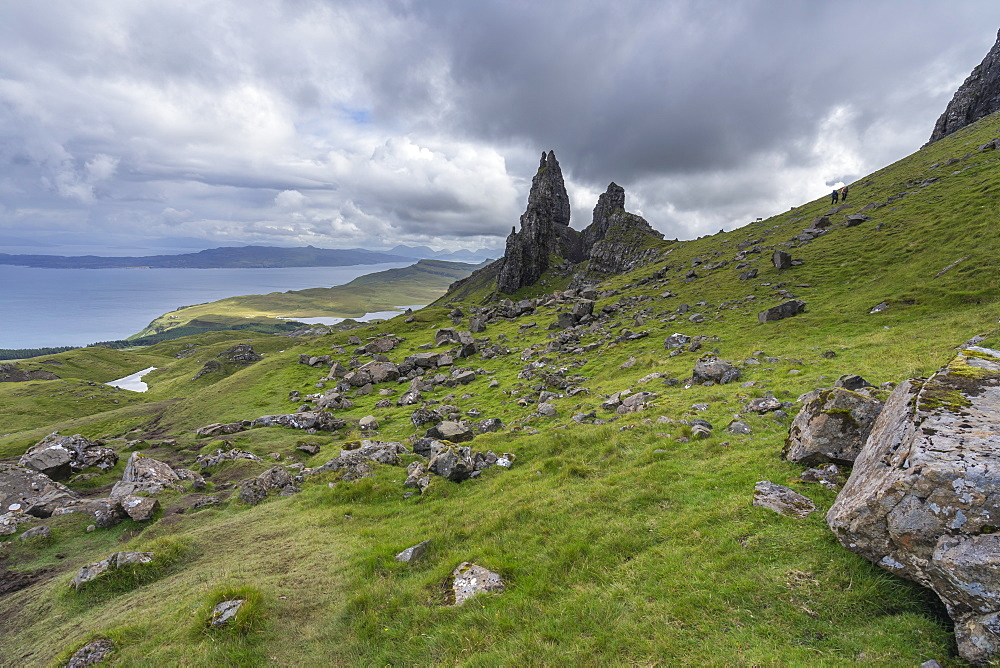 The Old Man of Storr, the most popular landmark of Isle of Skye, Scotland