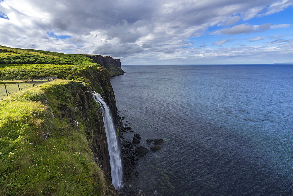 Kilt rock waterfall on the north-east coast of Isle of Skye, Scotland