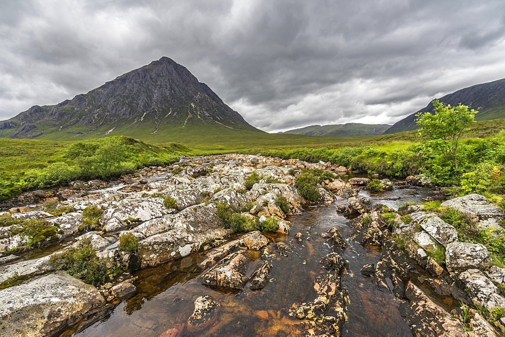 Buachaille Etive Mor, one of the most famous sights of Glencoe, Scotland - 1277-7