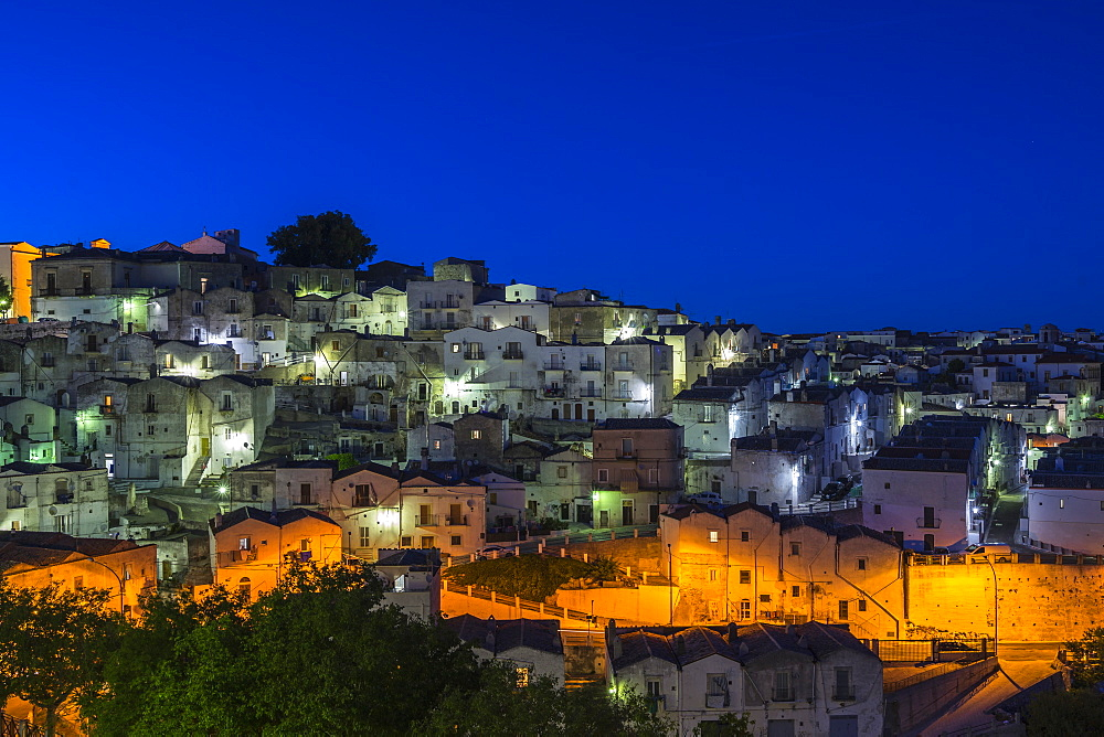Blue hour at Monte Sant'Angelo, Apulia, Italy - 1277-9