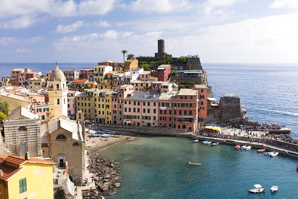 Vernazza on a sunny day, Cinque Terre, Liguria, Italy, Europe, UNESCO World Heritage Site - 1284-141