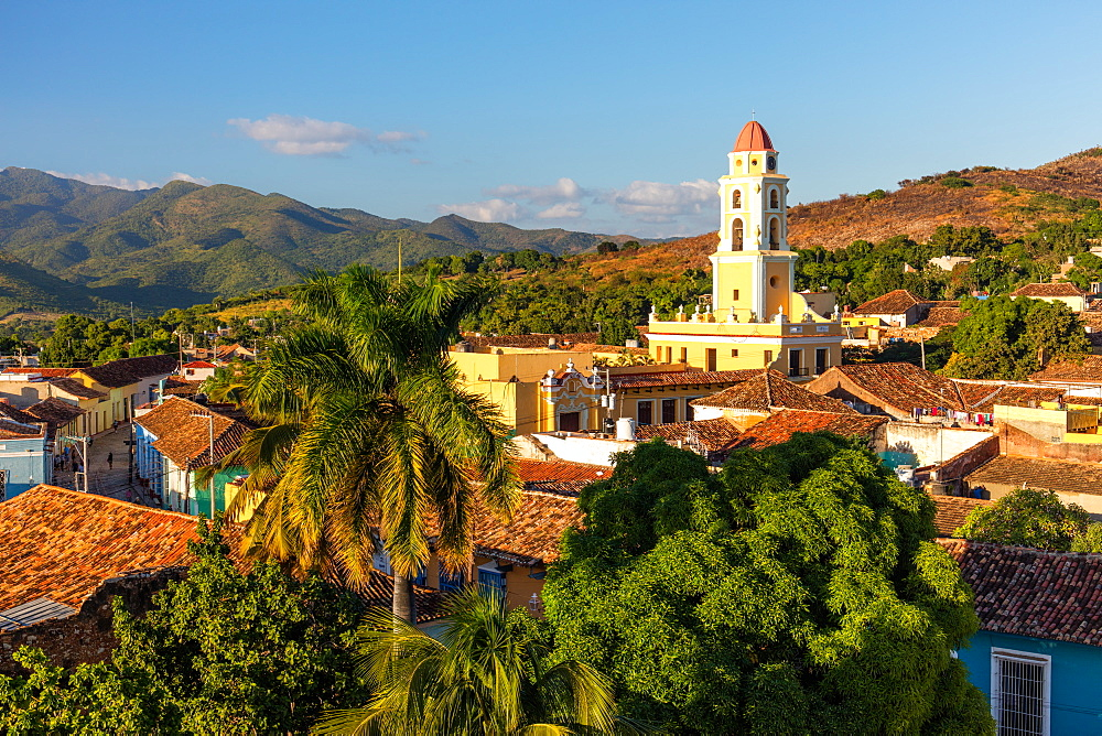 View of Bell Tower and Trinidad, UNESCO World Heritage Site, Sancti Spiritus, Cuba, West Indies, Caribbean, Central America - 1284-195