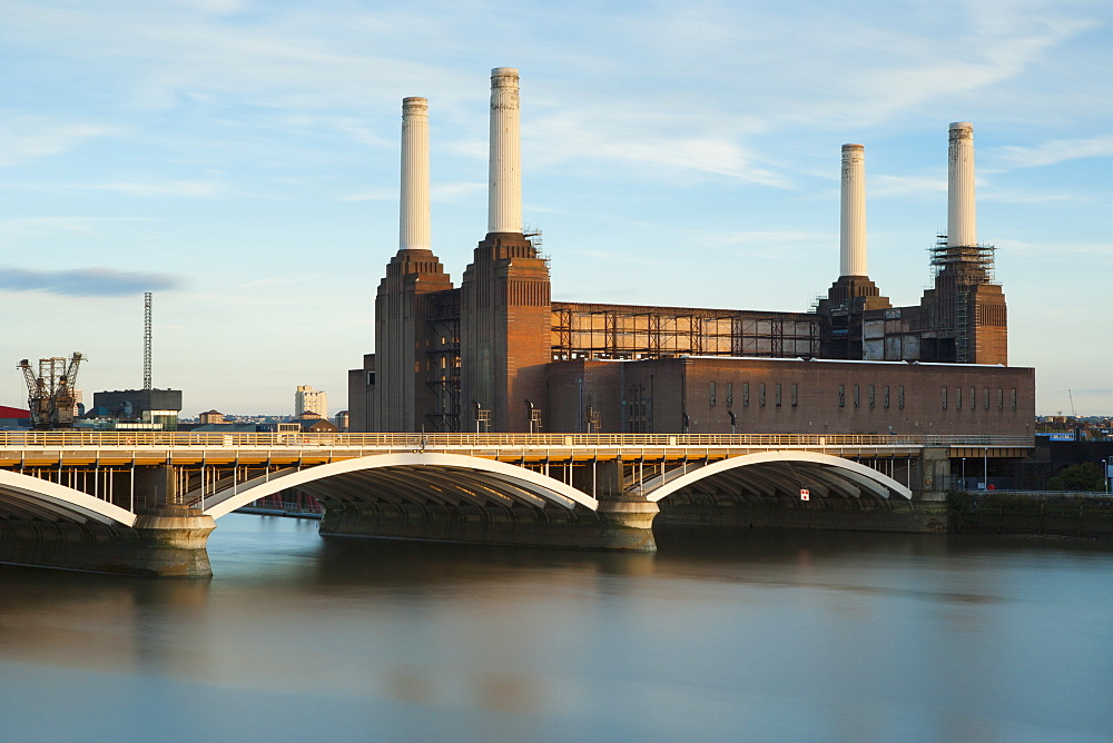 Battersea Power Station and Battersea Bridge, London, England, United Kingdom, Europe - 1284-98