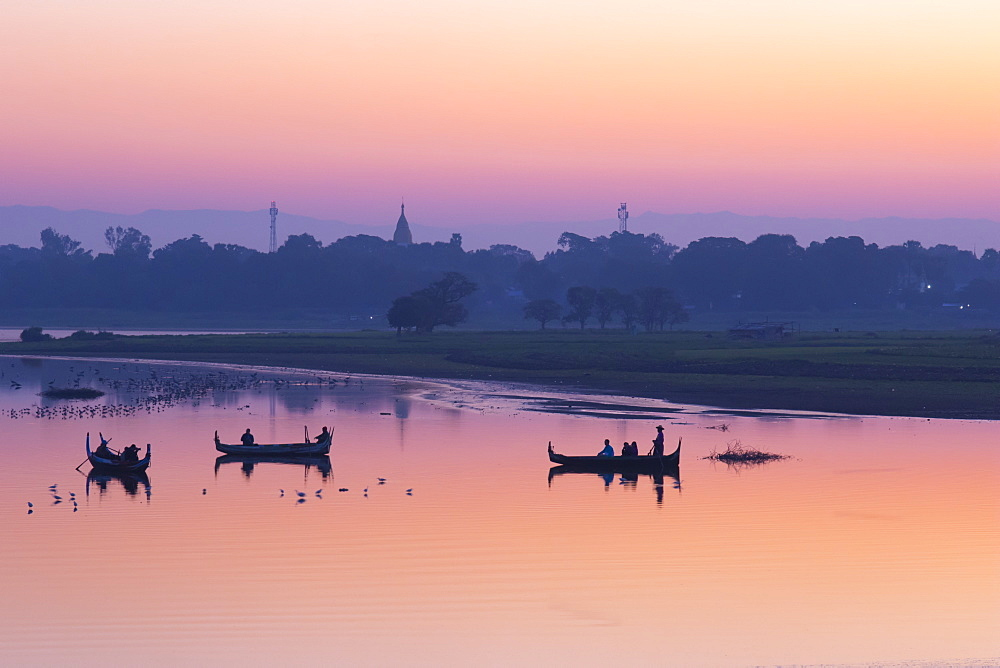 Sunrise in Mandalay, Myanmar (Burma), Asia - 1285-3