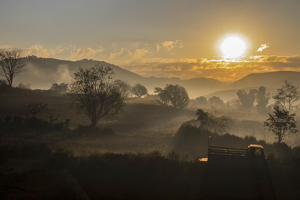 Mist in Kalaw, Shan State, Myanmar (Burma), Asia