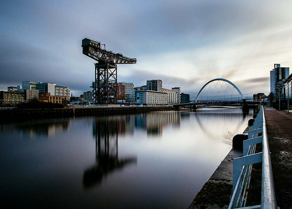 The Clyde Arc, River Clyde, Glasgow, Scotland, United Kingdom, Europe - 1286-35