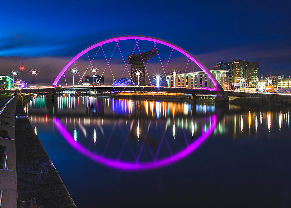 The Clyde Arc, River Clyde, Glasgow, Scotland, United Kingdom, Europe - 1286-36