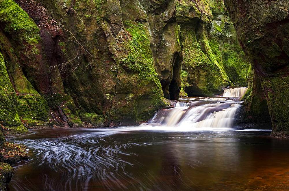 The gorge at Finnich Glen (Devils Pulpit) near Killearn, Stirlingshire, Scotland, United Kingdom, Europe - 1287-77