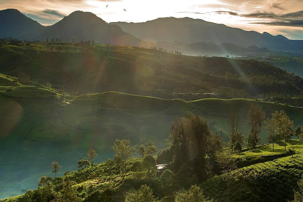 Sunrise moment from Giri's peak, Java, Indonesia, Southeast Asia, Asia - 1288-8