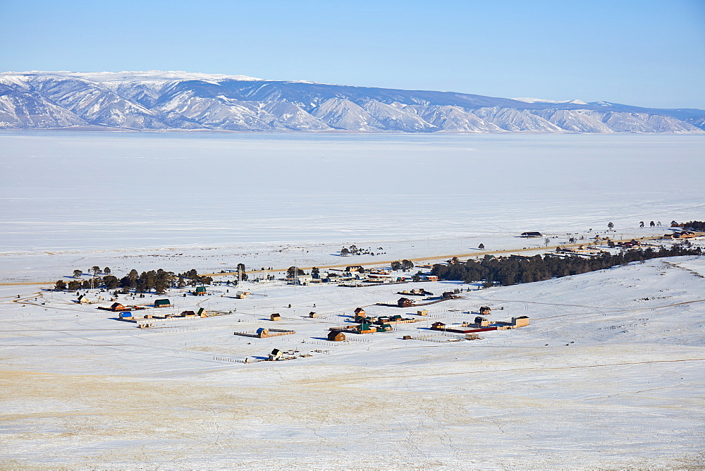 Part of Chuzhir village on Olchon island in Lake Baikal, Siberia, Russia, Eurasia - 1294-125
