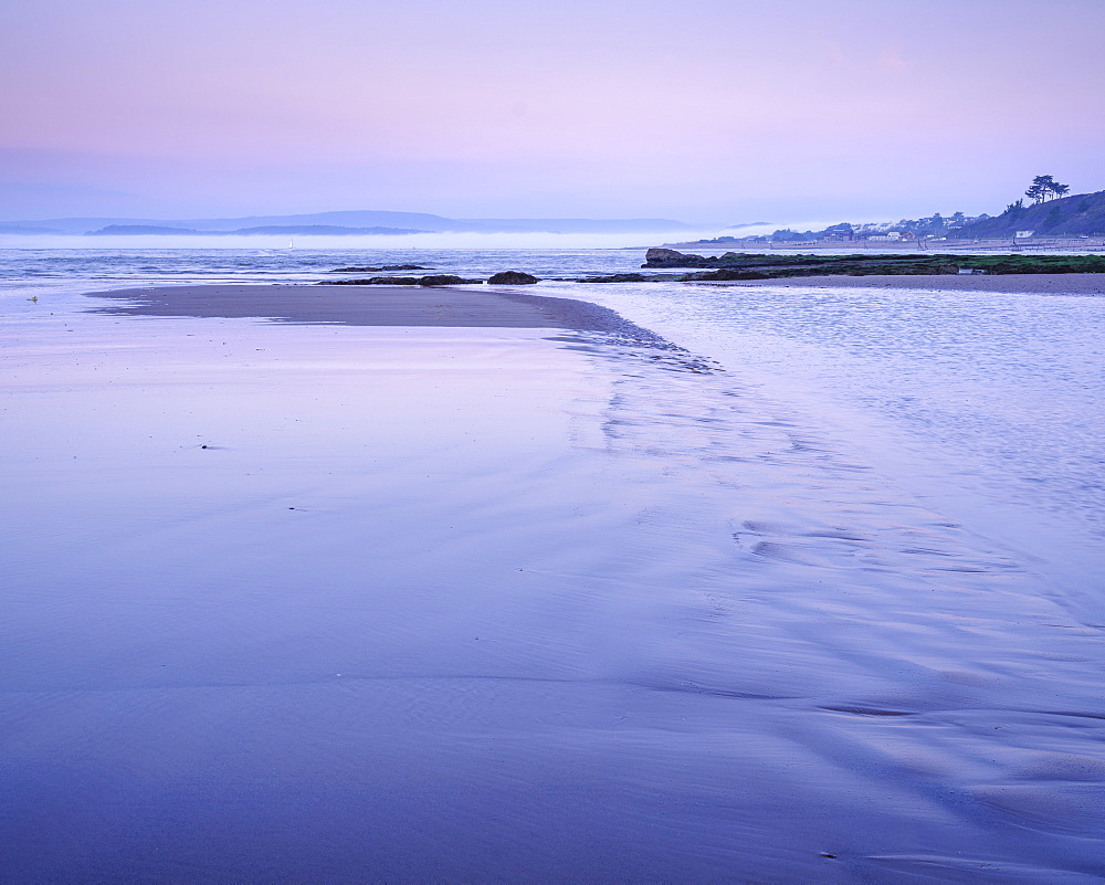 Twilight with mist coming out of River Exe, Orcombe Point, Exmouth, Devon, UK. - 1295-180
