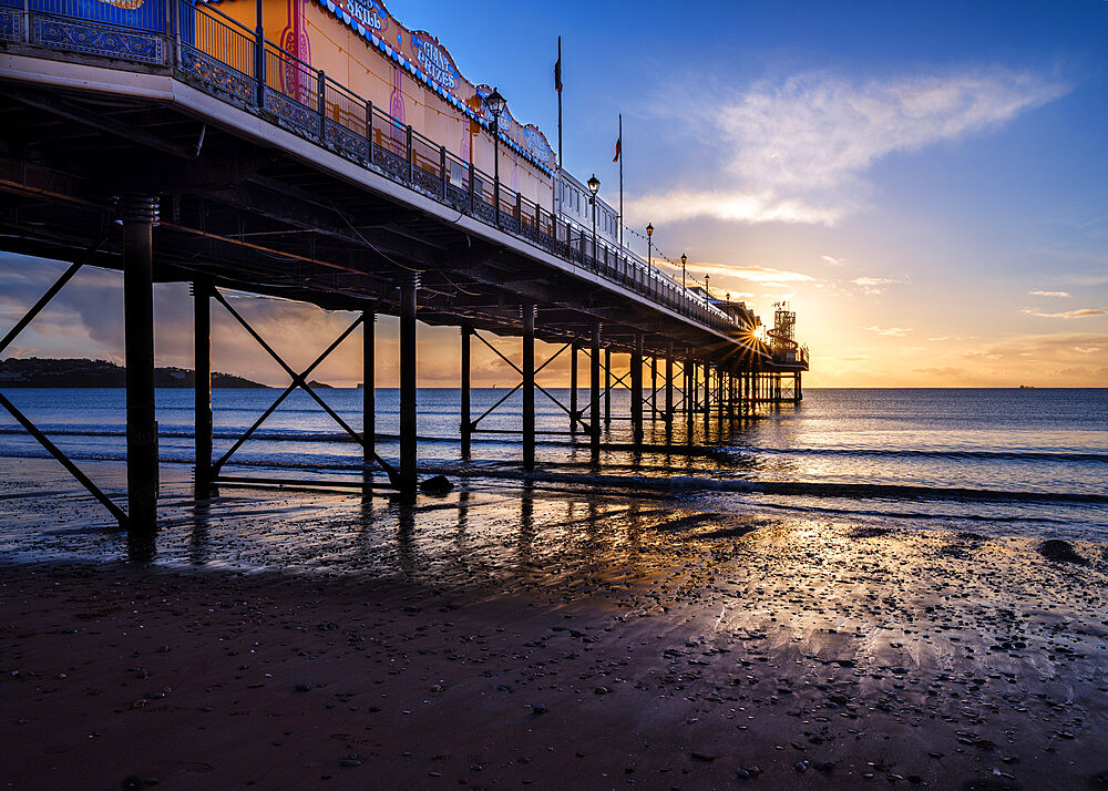 The photogenic Pier at Paignton, Devon UK - 1295-195
