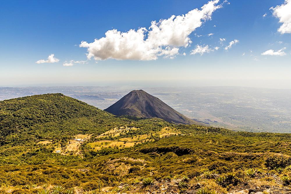 The view of Volcano Izalco from Volcano Santa Ana, Santa Ana, El Salvador, Central America