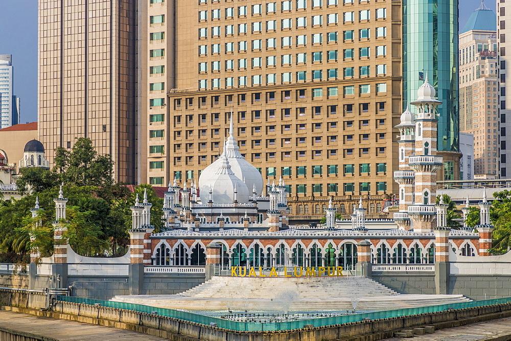Sultan Abdul Samad Jamek Mosque, Kuala Lumpur, Malaysia, Southeast Asia, Asia - 1297-1045
