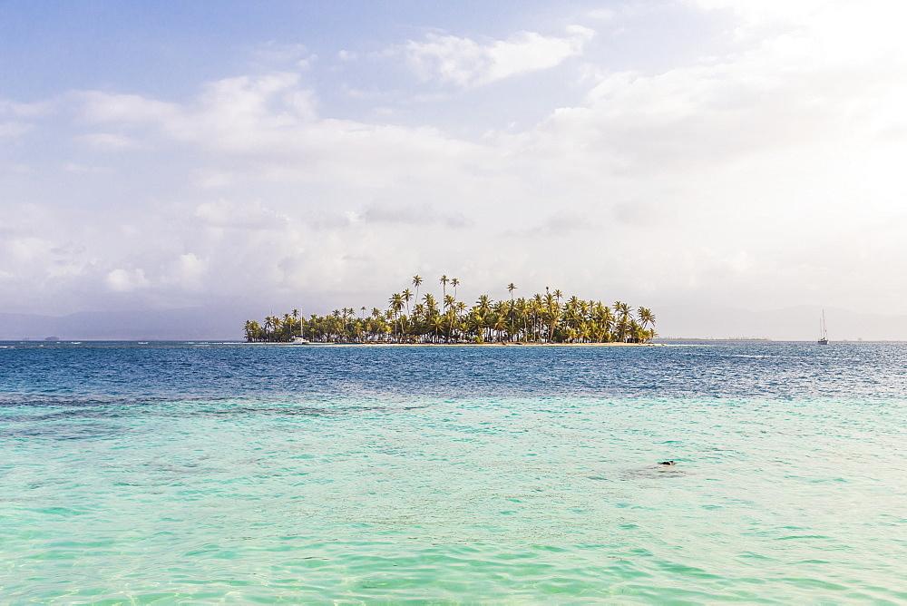 A view from Banderas Island in the San Blas Islands, Kuna Yala, Panama, Central America