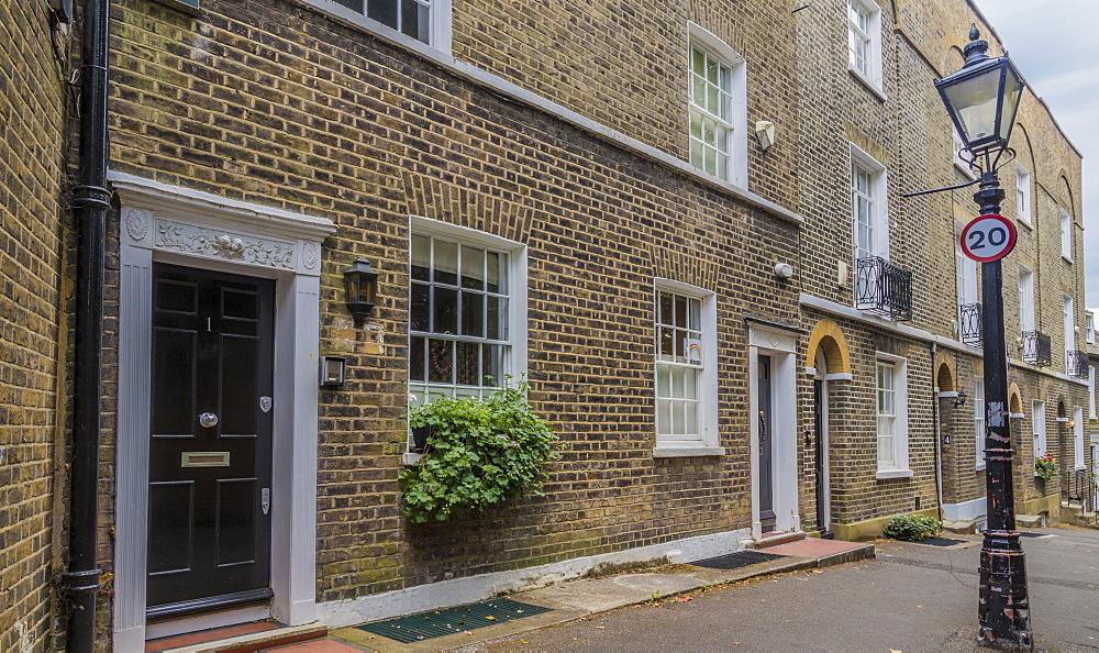 Beautiful local street, Hampstead, London, England, United Kingdom, Europe - 1297-1182