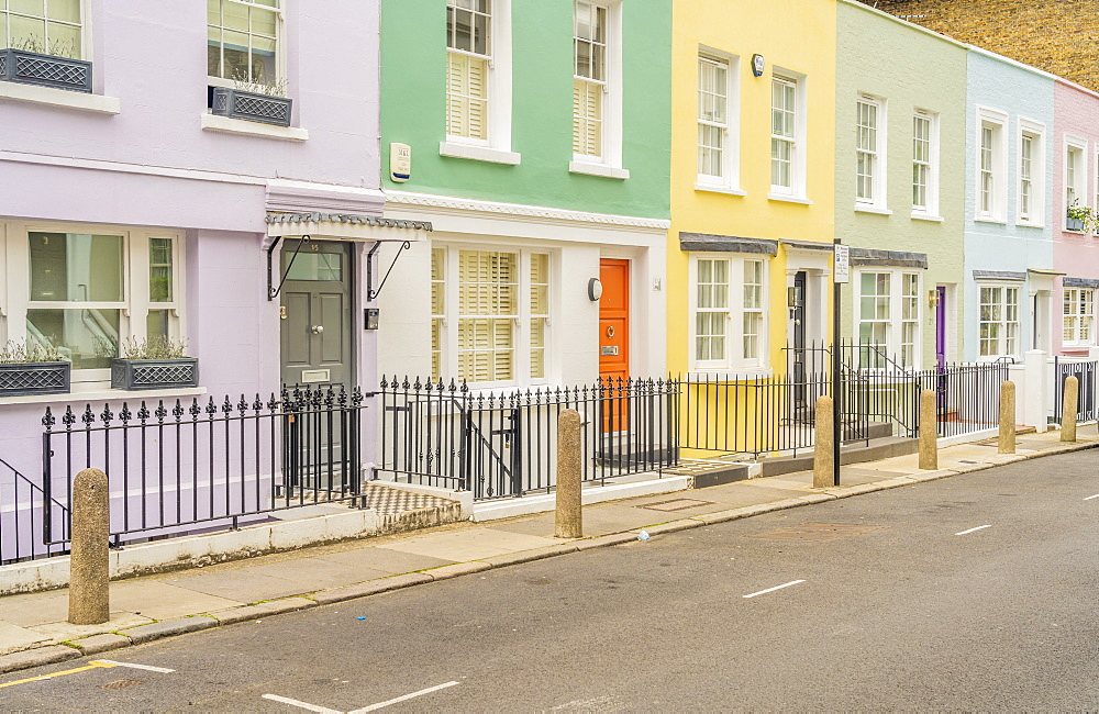 Colourful buildings in Notting Hill, London, England, United Kingdom, Europe - 1297-1212