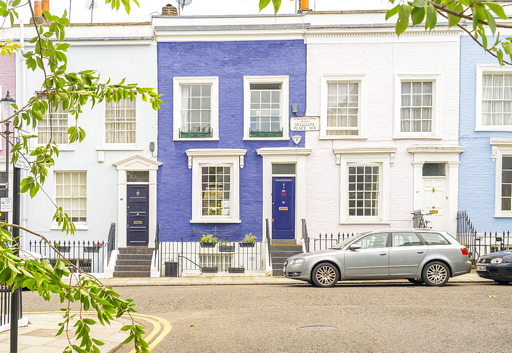Colourful buildings in Notting Hill, London, England, United Kingdom, Europe - 1297-1213