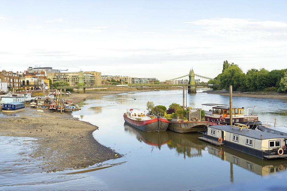 Hammersmith Bridge and the River Thames, London, England, United Kingdom, Europe - 1297-1216