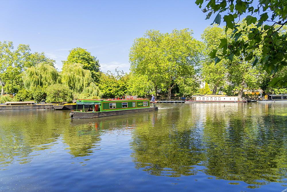 Canal boats, Little Venice, London, England, United Kingdom, Europe - 1297-1220